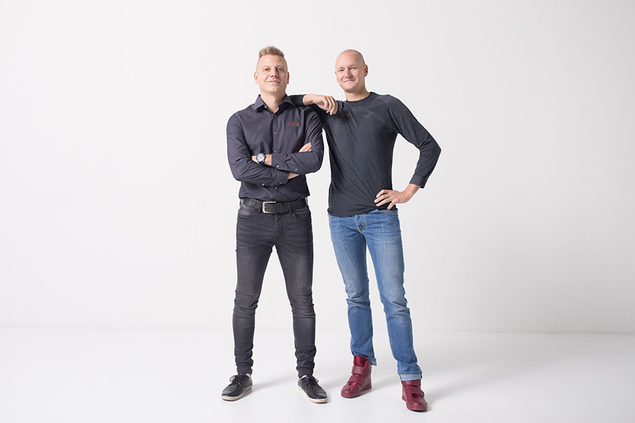 Ari Laakkonen and Jarkko Kortelainen, founders of the Finnish company TE3 Oy.
